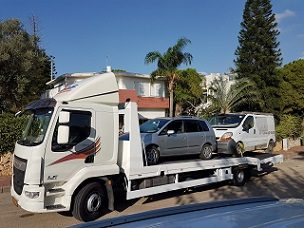 מגרש פירוק רכבים באריאל
